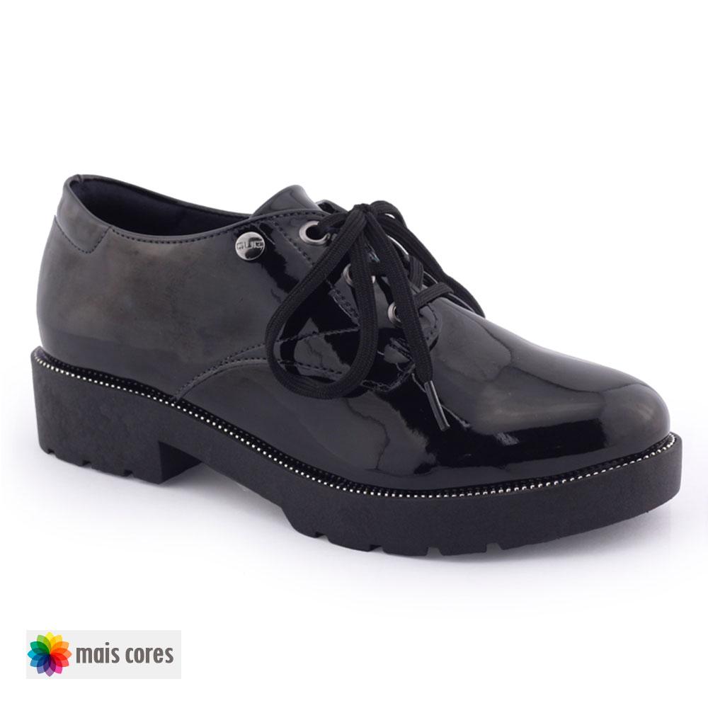 Sapato Fem. Oxford 67-55110 tratorado verniz original - Quiz
