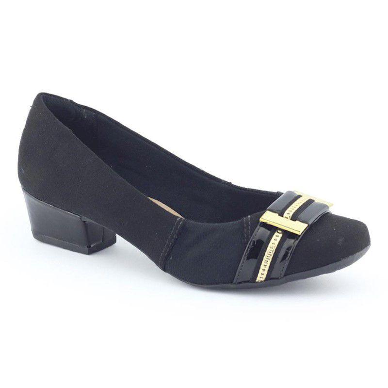 Sapato Feminino 187836 camurça fivela - Firezzi