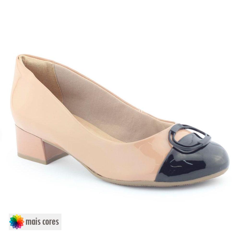 Sapato Feminino 1883103 salto baixo grosso - Ramarim