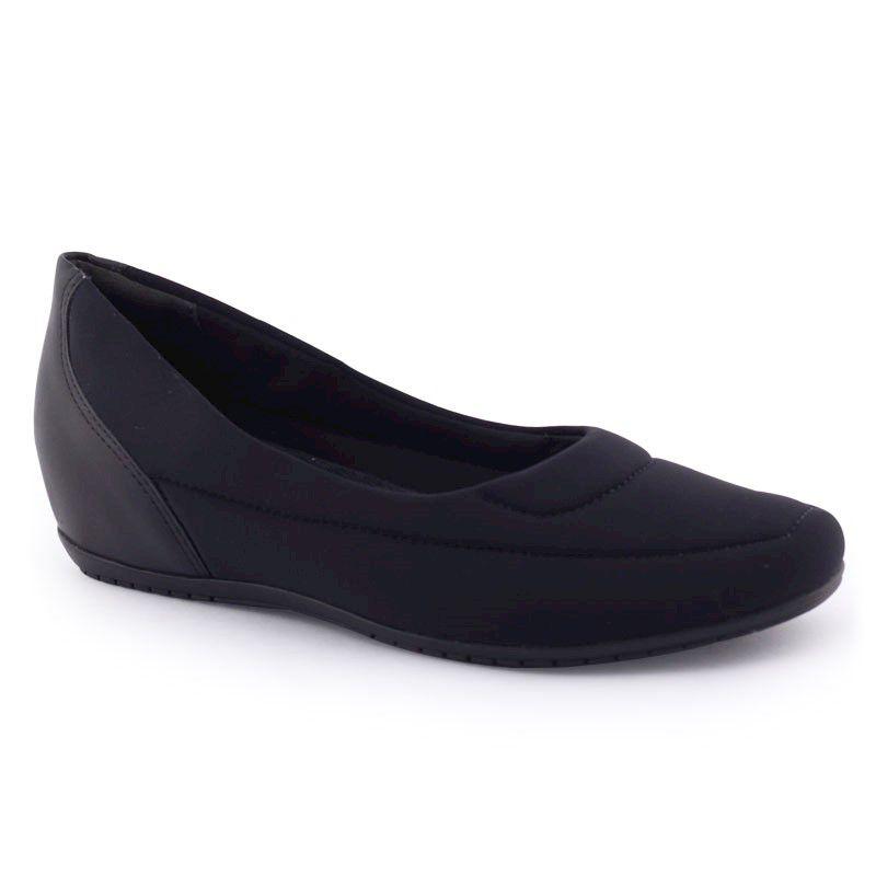 Sapato feminino 1994301 salto Anabela original - Comfortflex