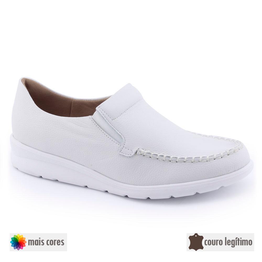 Sapato Feminino AD4106 Couro Original cNF Usaflex Bio Care