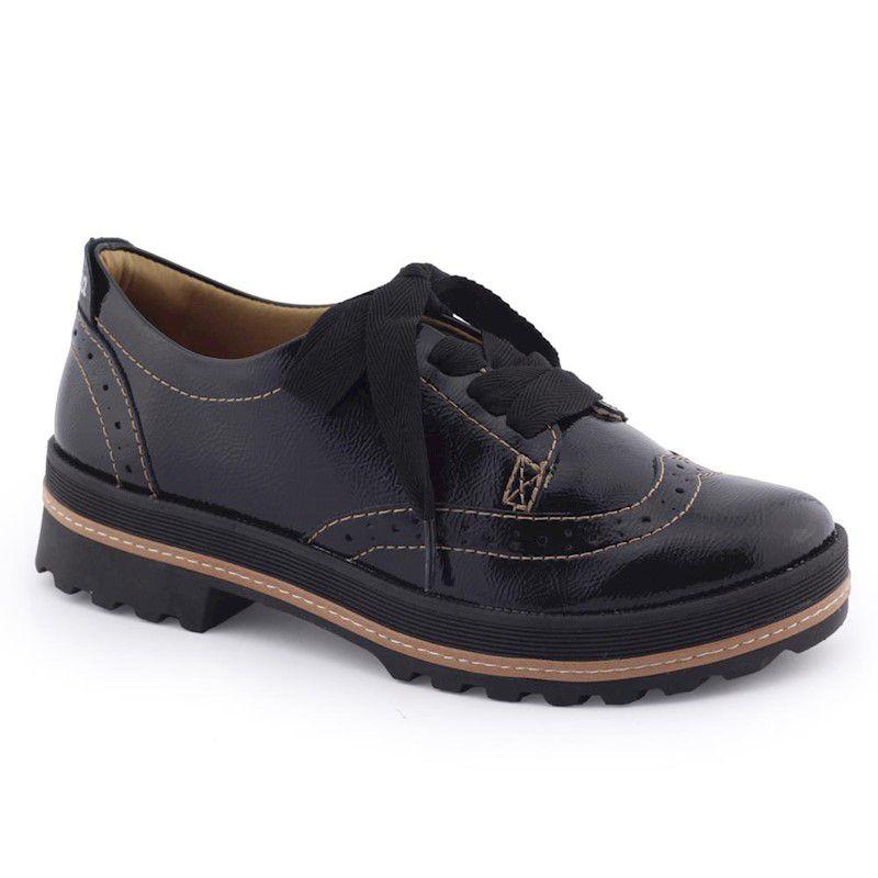 Sapato feminino Oxford VZ G1021 verniz original - Dakota