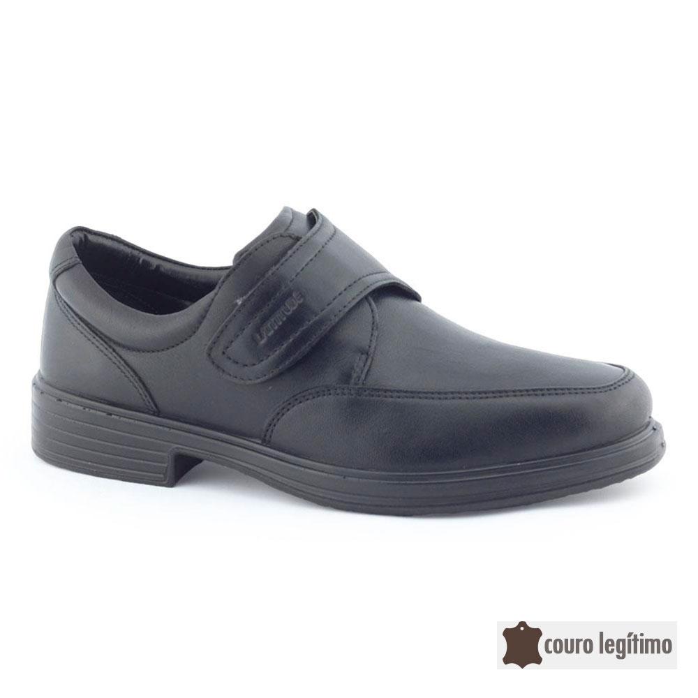 Sapato Masc. 503 tira aderente Couro Legítimo - Latittude