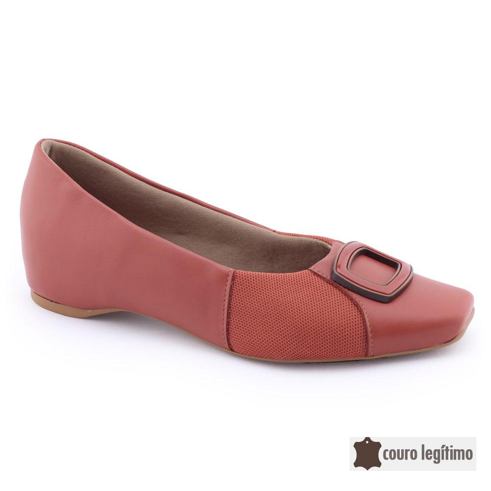 Sapato Sapatilha Feminina AD0203 Couro Original Usaflex Care