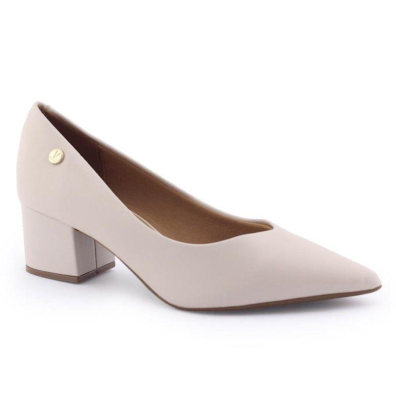 Sapato Scapin feminino 1220 salto médio robusto - Vizzano