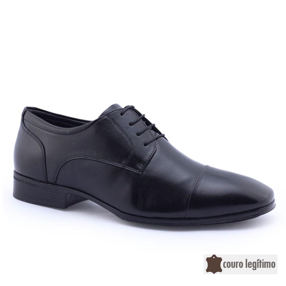 Sapato Social Masculino Air Confort FI 70660 Couro Jota Pé