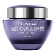 Avon Renew Platinum FPS 25 Creme + 55 Definição e Contorno Dia 50g