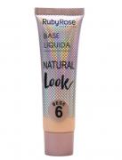 Base Líquida Natural Look Bege 6 Ruby Rose