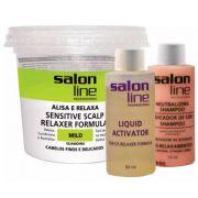 Guanidina Tradicional Mild Alisa e Relaxa Salon Line 215gr