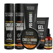Kit Cabelo e Barba completo Bio Extratus 6 Itens