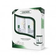 Kit Fios de Porcelana Triskle Cachos ( Shampoo e Cond 500ml Cada)