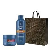 Kit Presente Siage Men Shampoo Força 250ml + Pomada Modeladora 90g