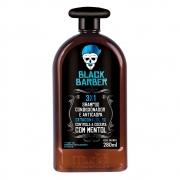 Shampoo Anticaspa 3x1 Black Barber Muriel 280ml