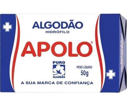 Algodão Apolo 50g  - LUISA PERFUMARIA E COSMETICOS