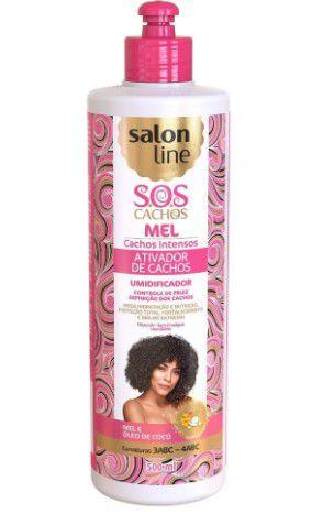 Ativador Cachos SOS Mel Intenso Salon Line 500 ml