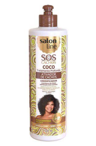 Ativador De Cachos Salon Line S.O.S Tratamento Profundo Coco 500ml  - LUISA PERFUMARIA E COSMETICOS