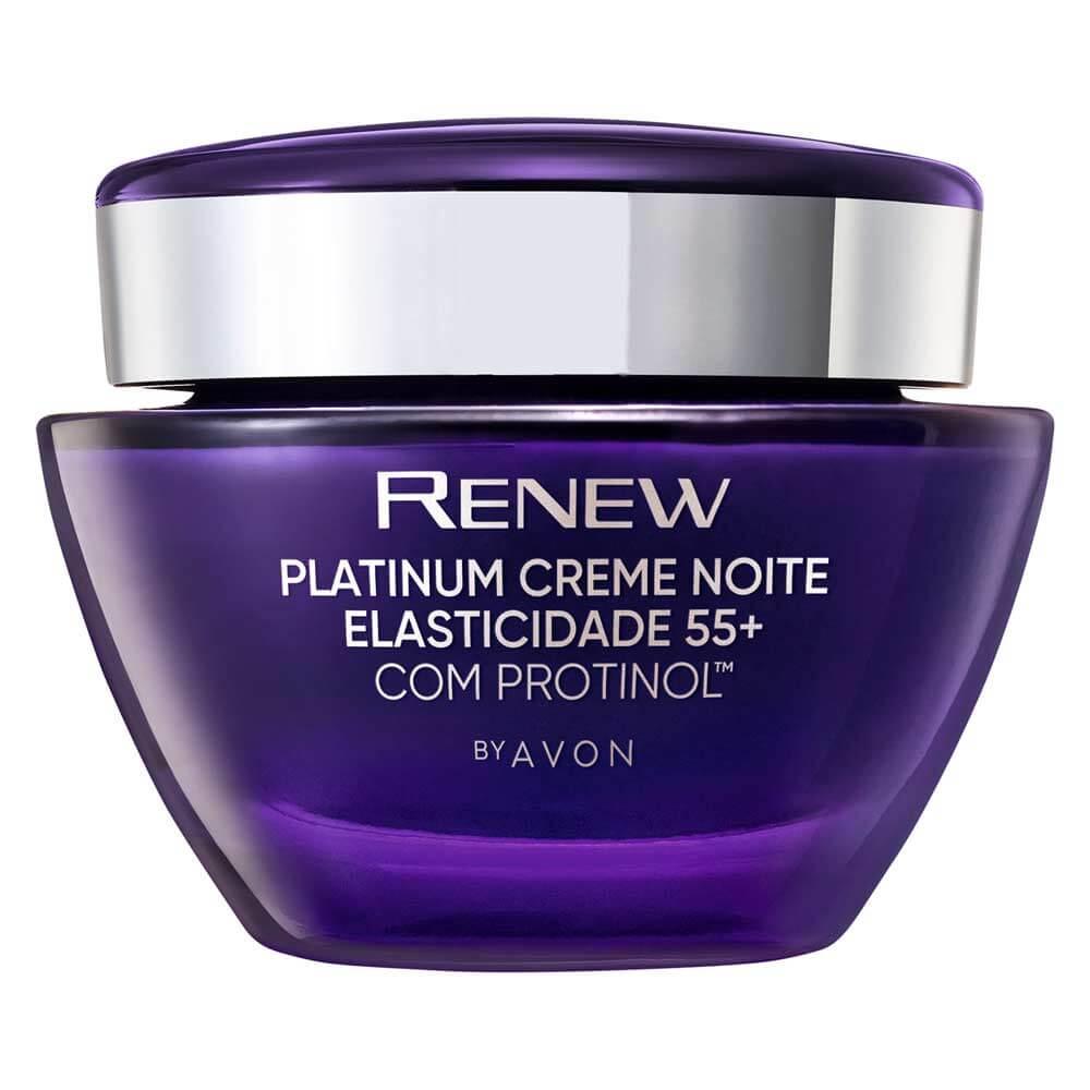 Avon Renew Platinum Creme + 55 Elasticidade Noite 50g