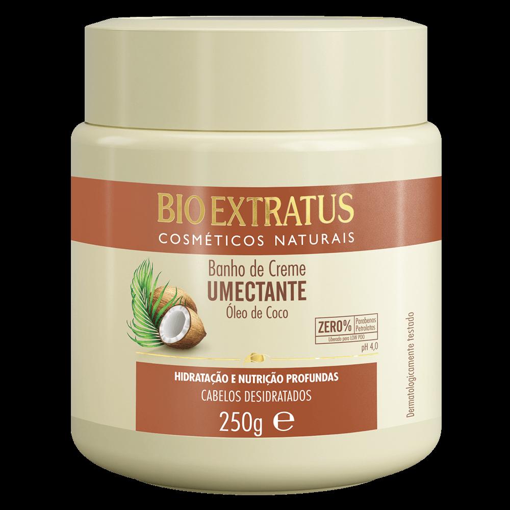 Banho de creme umectante de coco Bio Extratus 250gr  - LUISA PERFUMARIA E COSMETICOS