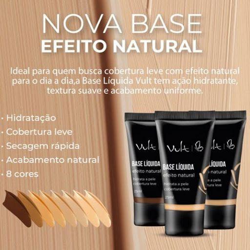 Base Líquida Natural Vult  - LUISA PERFUMARIA E COSMETICOS