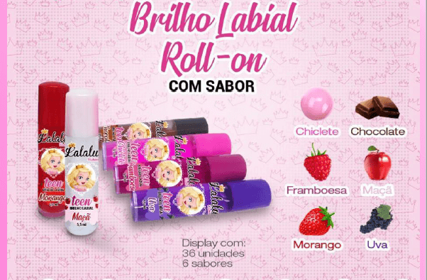 Brilho Rollon Lalalu  - LUISA PERFUMARIA E COSMETICOS