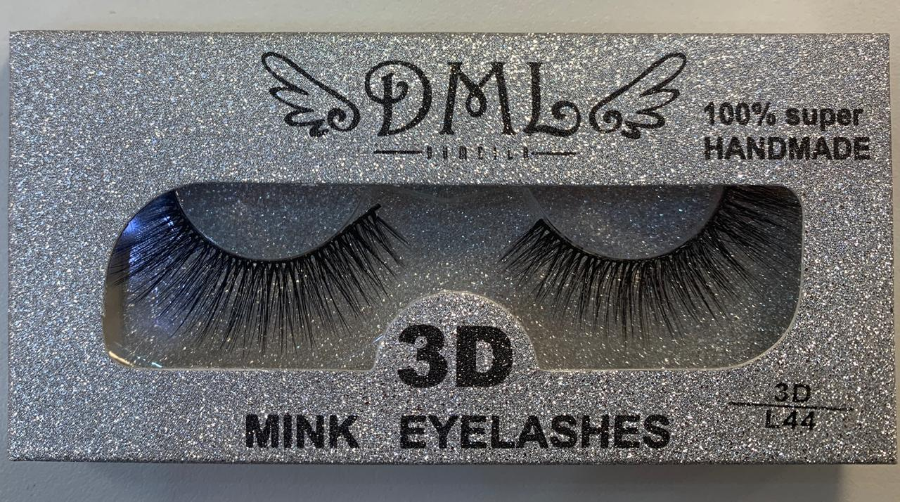 Cilios Postiços DML 3D L44  - LUISA PERFUMARIA E COSMETICOS