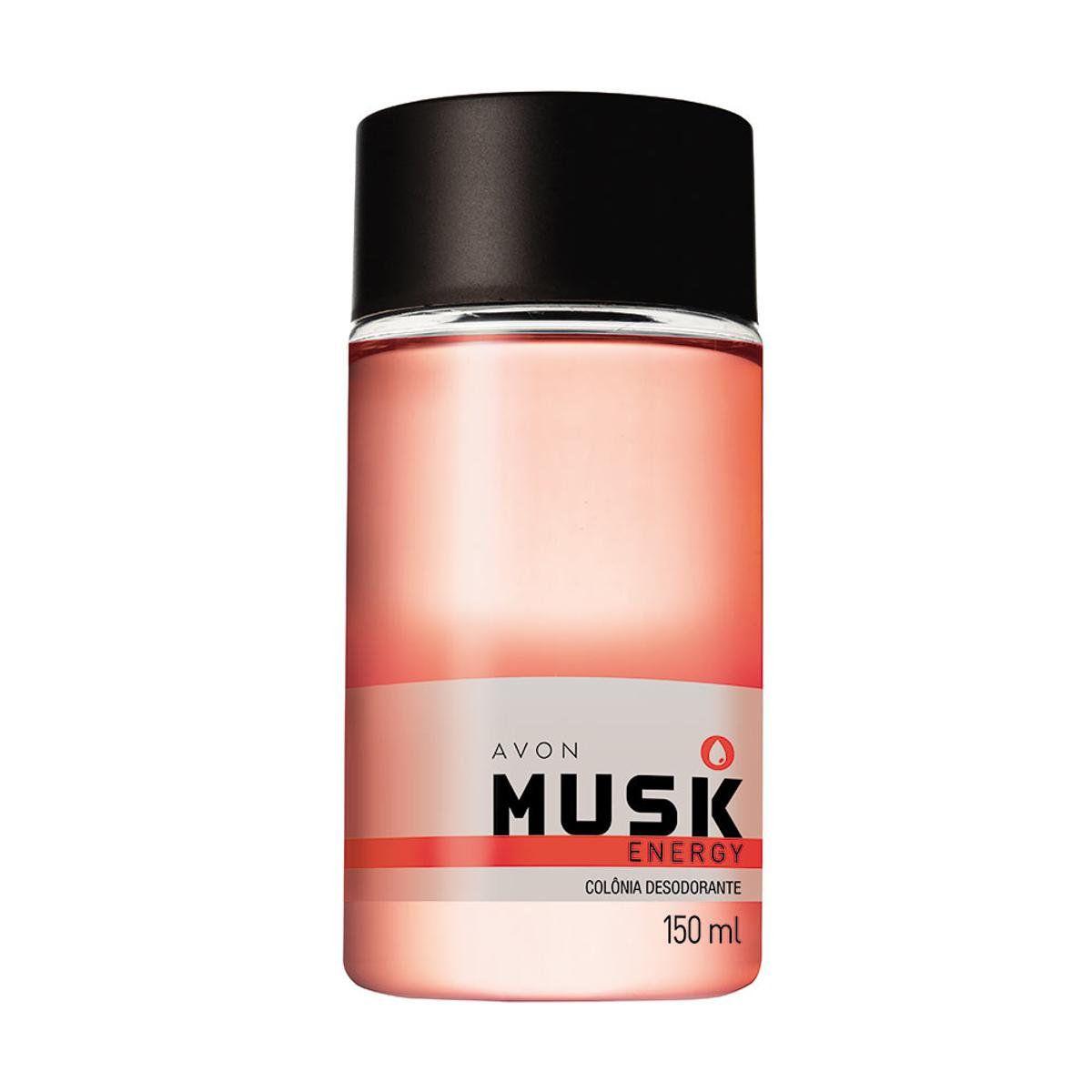 Colonia Desodorante Avon Musk Energy 150ml  - LUISA PERFUMARIA E COSMETICOS