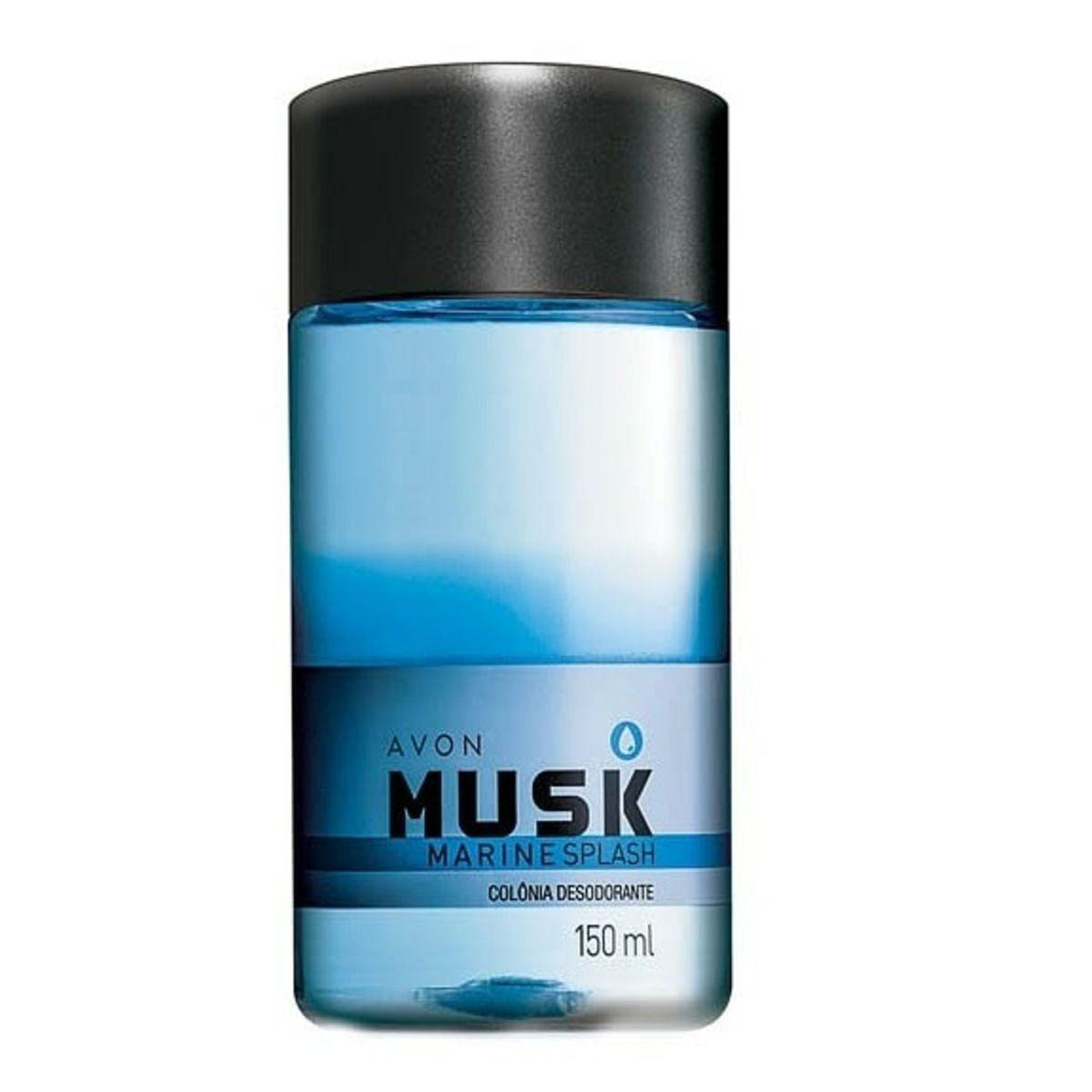 Colonia Desodorante Avon Musk Marine Splash 150ml  - LUISA PERFUMARIA E COSMETICOS