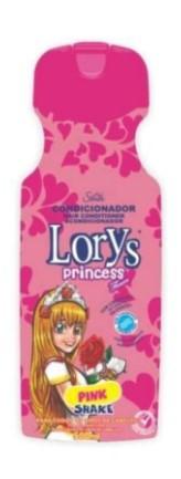 Condicionador Infantil Lorys Princess Pink Shake 500ml  - LUISA PERFUMARIA E COSMETICOS