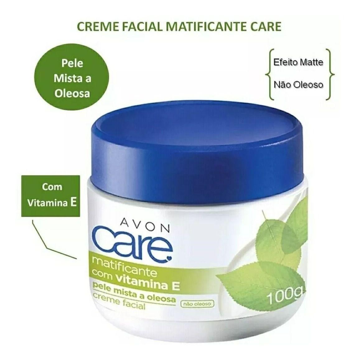 Creme Facial Avon Care Matificante Pele Mista e Oleosa 100g  - LUISA PERFUMARIA E COSMETICOS