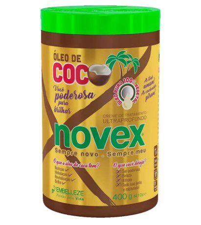 Creme Trat Novex Oleo de Coco 400gr  - LUISA PERFUMARIA E COSMETICOS