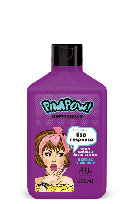 Defrizante Pinapow Liso Responsa 280ml  - LUISA PERFUMARIA E COSMETICOS