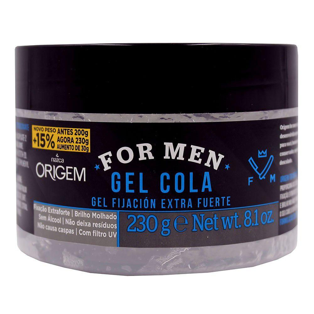 Gel Cola For Men Origem Fixação Extra Forte 230g