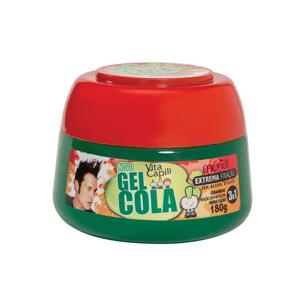 Gel Cola Vita Capili Muriel Extrema Fixação 180g  - LUISA PERFUMARIA E COSMETICOS