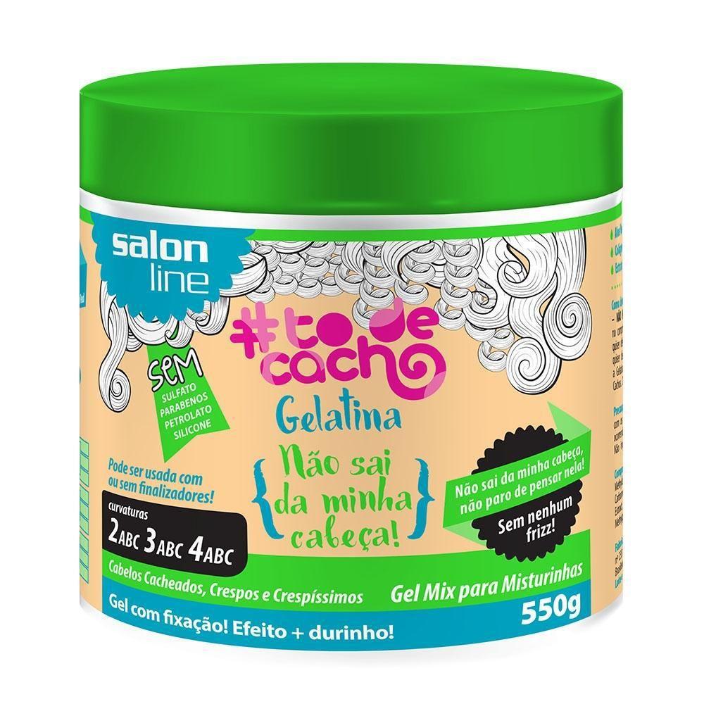Gelatina #todecacho Não Sai da Minha Cabeça! Salon Line 550gr