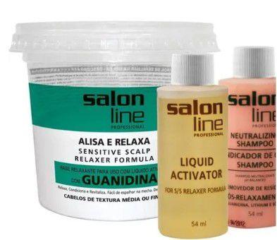 Guanidina Tradicional Mild Alisa e Relaxa Salon Line 218gr  - LUISA PERFUMARIA E COSMETICOS