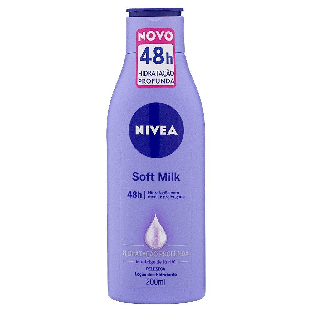 Hidratante Corporal Nivea Soft Milk 200ml  - LUISA PERFUMARIA E COSMETICOS