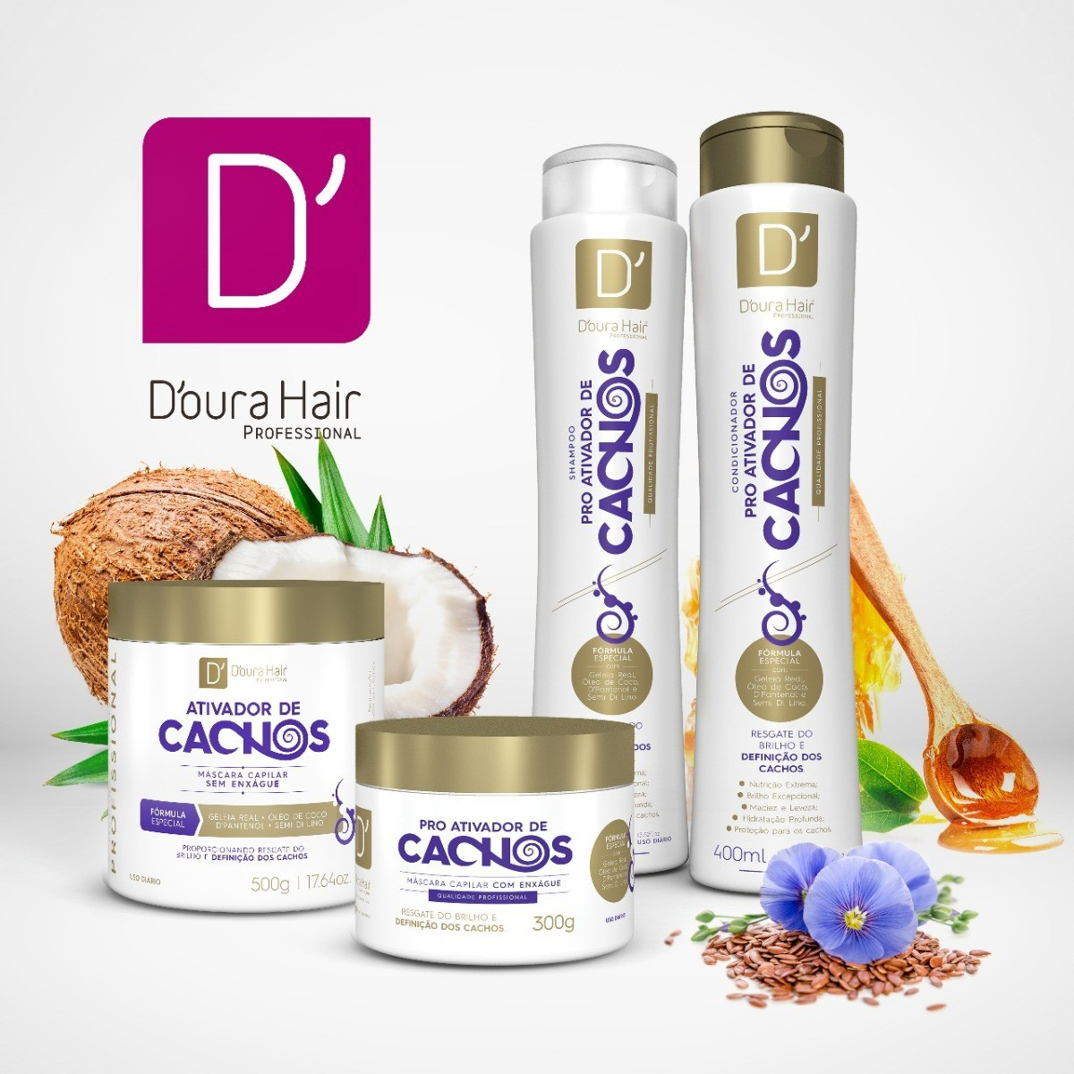 Kit Ativador de Cachos Doura Hair ( 4 itens)
