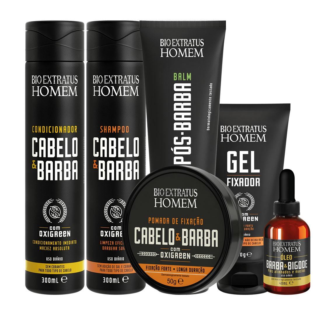 Kit Cabelo e Barba completo Bio Extratus 6 Itens  - LUISA PERFUMARIA E COSMETICOS