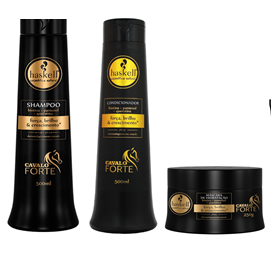 Kit Cavalo Forte Haskell Shampoo e Cond 500 ml ( 3 itens)  - LUISA PERFUMARIA E COSMETICOS