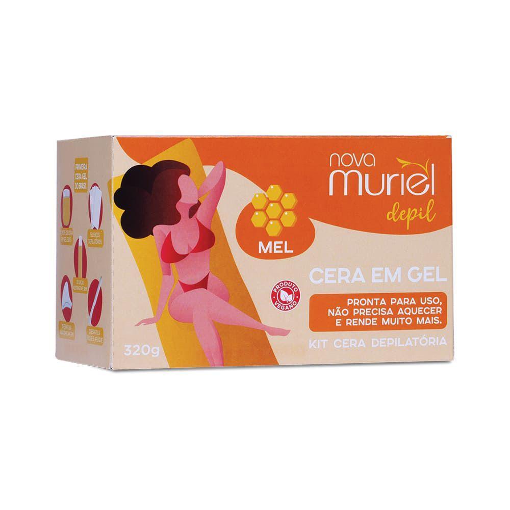 Kit Cera Depilatória Gel Pote Mel Muriel 320g