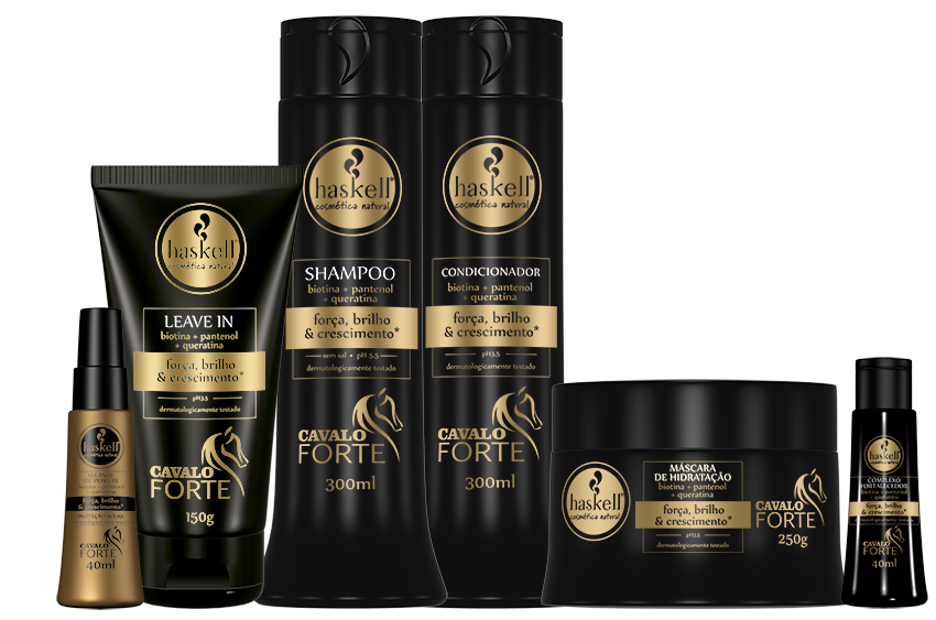 Kit Completo Cavalo Forte Haskell Shampoo 500ml e Cond 500ml ( 6 itens)