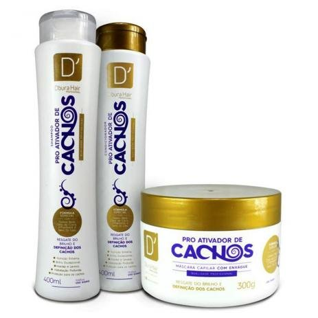 Kit D'oura Hair Cachos (3 itens)