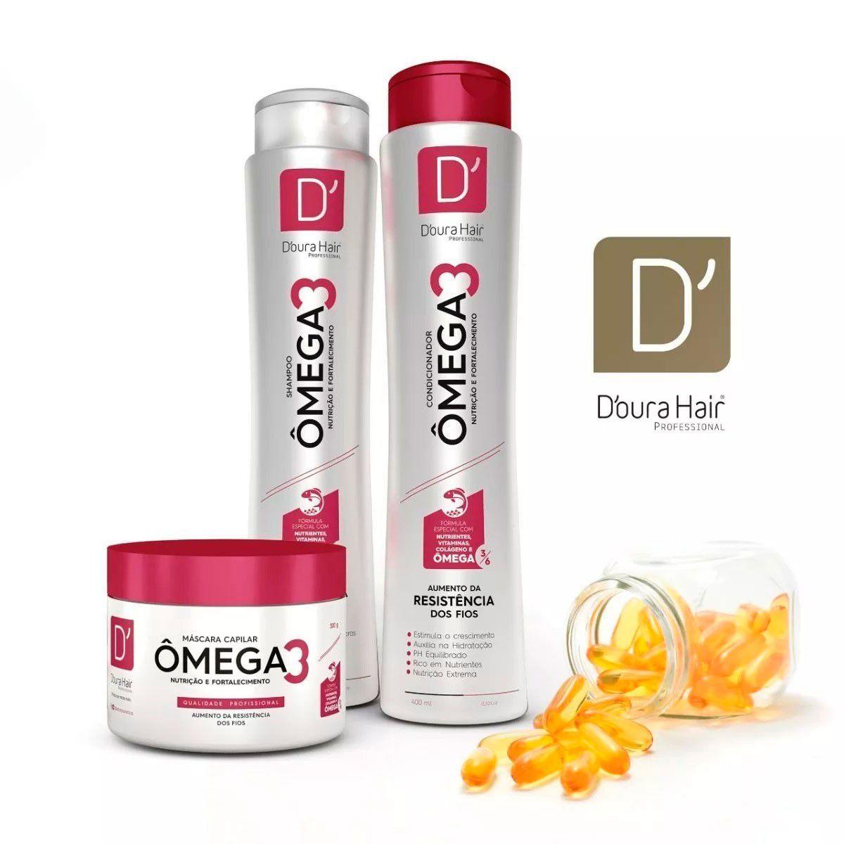 Kit Omega 3 D'oura Hair ( 3 itens)