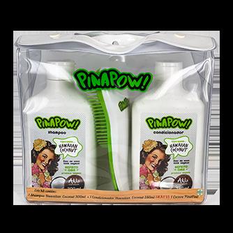 Kit Pinapow Hawaiian Coconut * Gratis Escova Pinapow  - LUISA PERFUMARIA E COSMETICOS