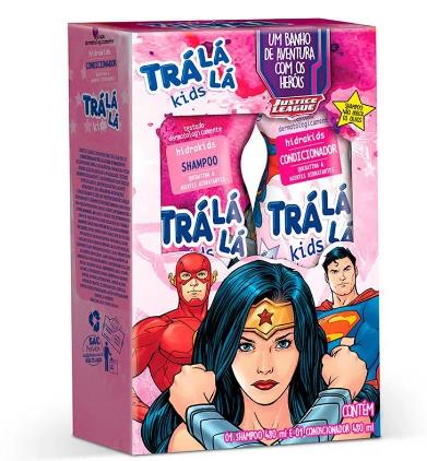 Kit Shampoo + Cond Tralala Kids Liga da Justiça 480ml  - LUISA PERFUMARIA E COSMETICOS