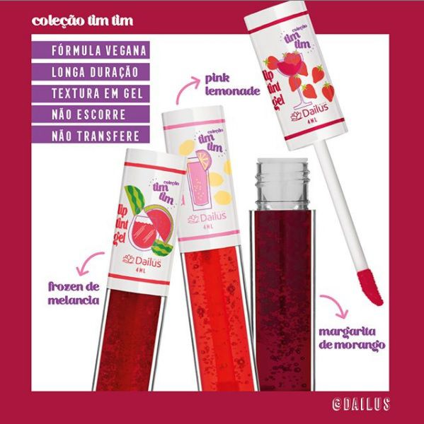 Lip Tint Coleção Tim Tim Dailus Pink Lemonade 04