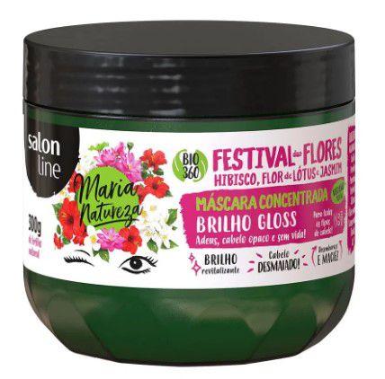 Máscara Concentrada Maria Natureza Festival das Flores Salon Line 300gr  - LUISA PERFUMARIA E COSMETICOS
