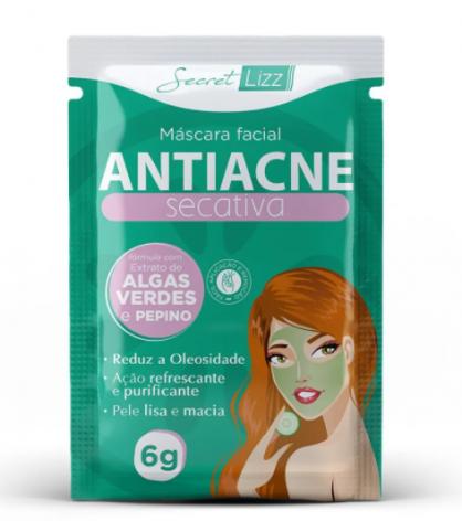 Mascara Facial Antiacne Secativa Secret Lizz 6g
