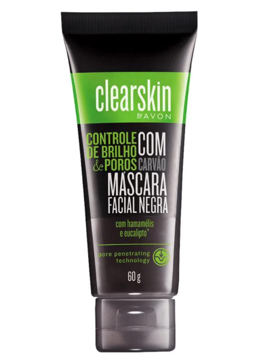 Mascara Facial Negra com Carvao Avon 60g