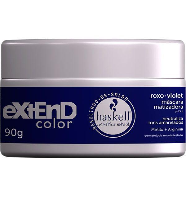 Mascara Matizadora Extend Roxo/Violet Haskell 90gr  - LUISA PERFUMARIA E COSMETICOS